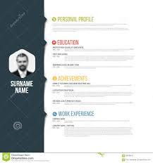 mini stic cv resume template stock vector image  mini stic cv resume template