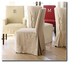 pottery barn slipcovered dining chairs