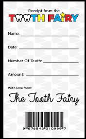 "National Tooth Fairy Day – Free Printable ""Receipt"" 