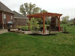 outdoor fireplace paver patio: paver patio with pergola in centerville ohio