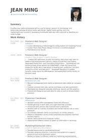 freelance web designer resume samples web design resume example