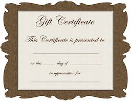 gift certificate template microsoft word certificate gift certificate template microsoft word