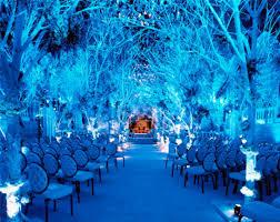 winter wedding blue uplighting blue wedding uplighting