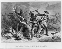 colonial society the american yawp albert bobbett engraver montcalm trying to stop the massacre c