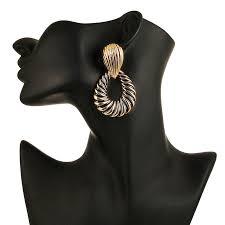 123 Fashionable Exaggerated Metal Earrings <b>Geometric Elements</b> ...
