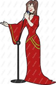 Image result for singing lady clip art