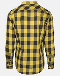 <b>Urban Classics Checked Рубашка</b> - Regular fit - Черный с желтым