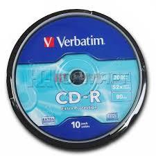 <b>Диски cd</b>-<b>r 700Mb</b> 52x <b>Verbatim</b>, 60457: характеристики, отзывы ...