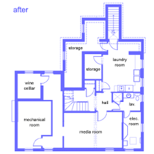 Floor Plans  amp  House Elevations   The Winchester House   This Old    Winchester Basement