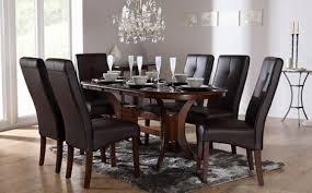 black and brown dining room sets inspiring well glass top dining room sets for your best black wood dining room