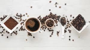 Чашка кофе; <b>кофейный</b> порошок и <b>кофейные</b> зерна ...