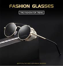 Retro Round <b>Steampunk Sunglasses</b> Men Women Side Shield ...