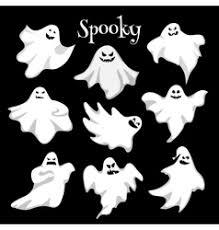 black ghost halloween