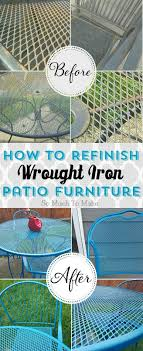 how to refinish wrought iron patio furniture diy instructions to turn rusty old wrought iron apothecary style furniture patio mediterranean