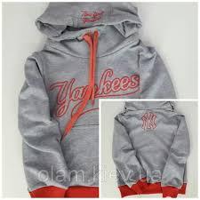<b>Свитшот детский</b> двунить для девочек <b>New</b> York Yankees меланж