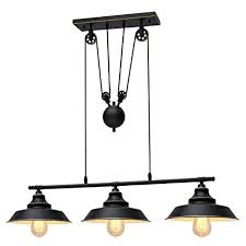 KingSo Three-<b>Light Pulley Pendant Light</b>, Kitchen Island <b>Light</b> ...