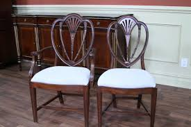 hepplewhite shield dining chairs set: inlaid mahogany dining room chairs newer antique reproductions