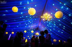 blue uplighting paper lanterns wedding lighting blue wedding uplighting