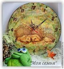 """<b>Часы</b> """"Моя семья"""" - оливковый,ежики,ежик в тумане,<b>часы</b> ..."""