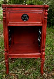 shabby chic furniture red and black glazed nightstand brilliant 14 red furniture ideas furniture