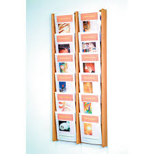magazine rack wall mount: wave wall mount magazine rack pocket vertical solid wood magazine rack
