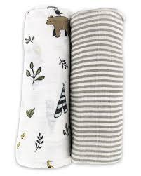 Organic Cotton Muslin Swaddle Set, <b>Forest Friends</b> | Swaddle sets ...
