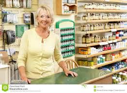 female s assistant in health food store stock photo image female s assistant in health food store