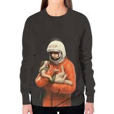 Заказать свитшот женский с полной запечаткой <b>Юрий Гагарин</b> ...