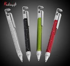 Multifunction Pen 6 in 1 Metal Tool <b>Ballpoint Pen Screwdriver Ruler</b> ...