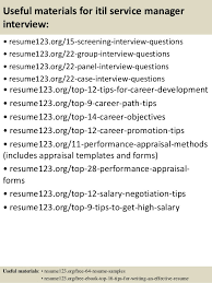 15 useful materials for itil service manager service manager resume examples