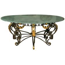 art nouveau style crackle glass round dining table art deco dining room table
