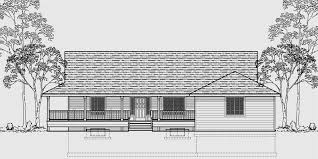 One Level House Plans  House Plans With Basements House front color elevation view for One level house plans  house plans   basements