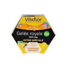 Vitaflor Bio Organic <b>Royal Jelly 1500mg</b> Vials x 20 l Sanareva