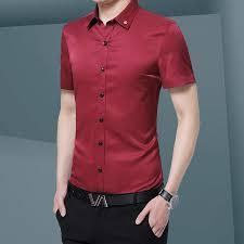 New Fashion Long Sleeve Shirt Solid Slim Fit <b>Male</b> Social Casual ...