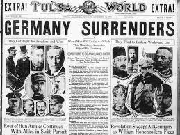 「germany surrenders ww1」の画像検索結果