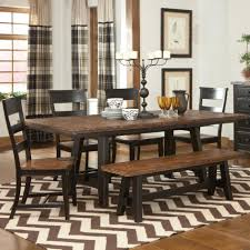 Trestle Dining Room Sets Emerson Extending Rustic Trestle Dining Table Is Also A Kind Of