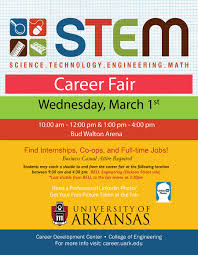 stem career fair on university of arkansas the university career development center in collaboration the college of engineering will host the science technology engineering and math stem