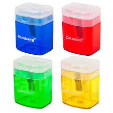 <b>Точилка Brauberg</b> OfficeBox, контейнер и крышка, прямоуг ...