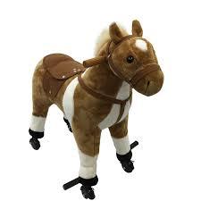 Aosom: Qaba Qaba <b>Kids</b> Interactive <b>Plush Ride-On</b> Walking Horse ...