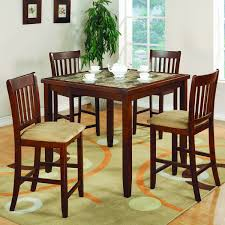 cherry counter height piece: coaster company cherry finish  piece counter height dining set
