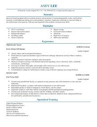 qa resume sample  qa software tester resume sample  entry level    sample resume for armed security officer