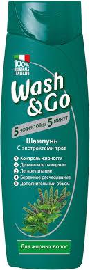 Wash&Go <b>Шампунь</b> с экстрактами трав для жирных волос, 400 мл ...