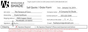 quote form instructions