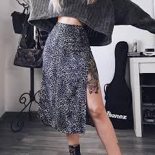 Sexy Leopard <b>Print Summer</b> Skirt Women Split High Waist Floral ...