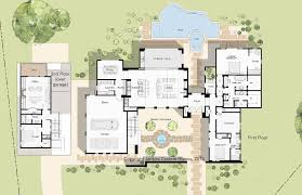Spanish House Plans With Inner Courtyard Spanish Colonial    Spanish Mission Floor Plan Austin Custom Home Architects