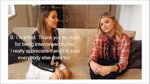 Chloë Grace Moretz - Interview at <b>Coach The Fragrance</b> Launch ...