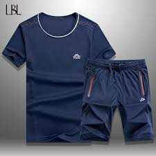 LBL <b>Summer Tracksuit Men</b> Casual Short Sets New Fashion Sports ...
