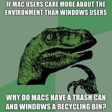 Philosoraptor Meme - Mac and Windows users via Relatably.com