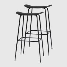 Beetle <b>Bar Stool</b> - Un-Upholstered, 75, Conic Base, Colli of <b>2</b> – GUBI ...