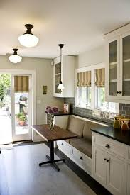 perfect height table for a breakfast nook in a kitchen low enough to sit at breakfast area lighting